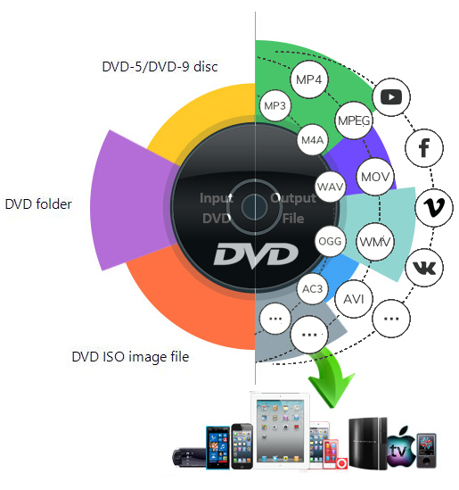 rip dvd to formats and devices